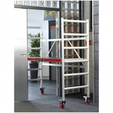 Aliuminio mobilus bokštelis RS 44 (A modulis), darbinis aukštis 3,00 m 3