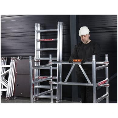 Aliuminio mobilus bokštelis MiTower (4 m darbinio aukščio) 7