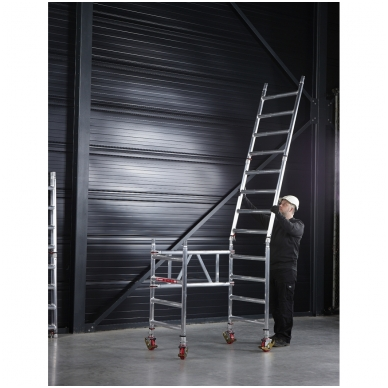 Aliuminio mobilus bokštelis MiTower (4 m darbinio aukščio) 8