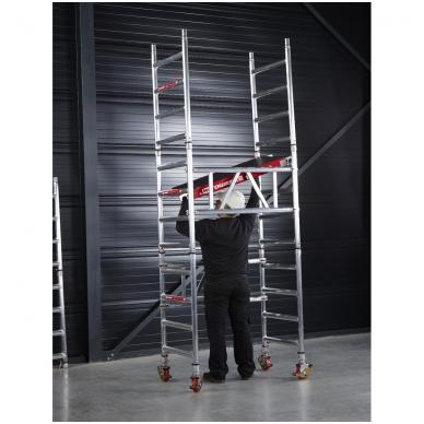 Aliuminio mobilus bokštelis MiTower (4 m darbinio aukščio) 9