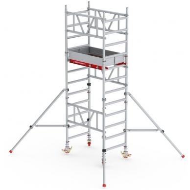 Aliuminio mobilus bokštelis MiTower (4 m darbinio aukščio)