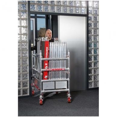 Aliuminio mobilus bokštelis MiTower (4 m darbinio aukščio) 4