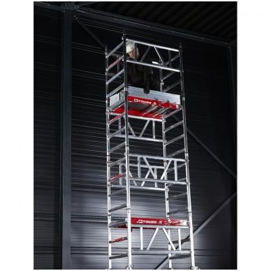 Aliuminio mobilus bokštelis MiTower (4 m darbinio aukščio) 3