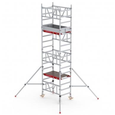 Aliuminio mobilus bokštelis MiTower (5 m darbinio aukščio)