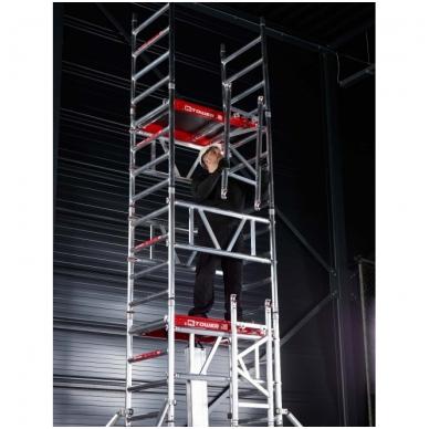 Aliuminio mobilus bokštelis MiTower (6 m darbinio aukščio) 18