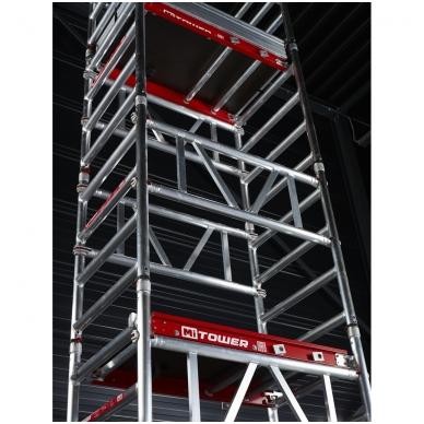 Aliuminio mobilus bokštelis MiTower (6 m darbinio aukščio) 16