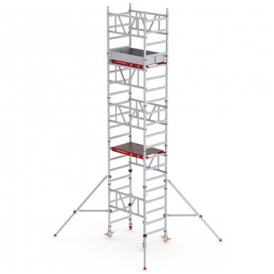 Aliuminio mobilus bokštelis MiTower (6 m darbinio aukščio)