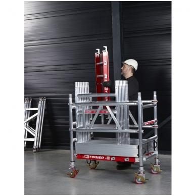 Aliuminio mobilus bokštelis MiTower (6 m darbinio aukščio) 6