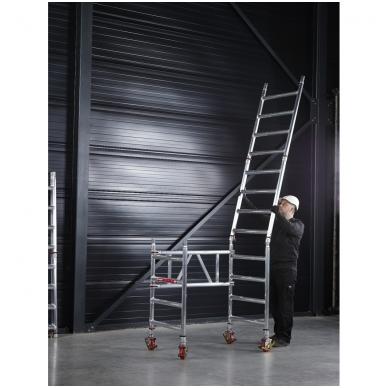 Aliuminio mobilus bokštelis MiTower (6 m darbinio aukščio) 9