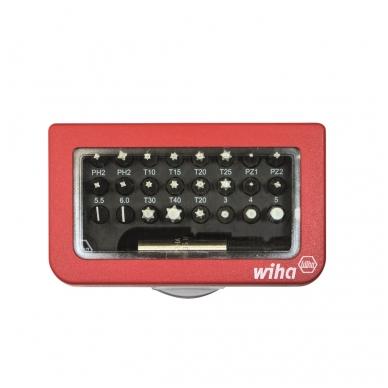 Antgalių rinkinys WIHA BitBox su magnetiniu laikikliu (31 vnt.) 2