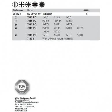 Antgalių rinkinys WIHA BitBox su magnetiniu laikikliu (31 vnt.) 3