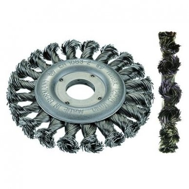 Apskritas šepetys, sukta  plieno viela OSBORN (Ø 115x10;0,50 mm)