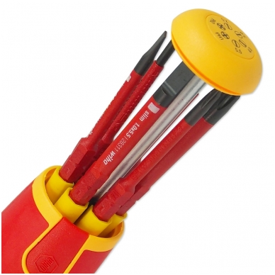 Atsuktuvas elektrikui su antgaliais rankenoje WIHA LiftUp slimBits (6 vnt.) 4