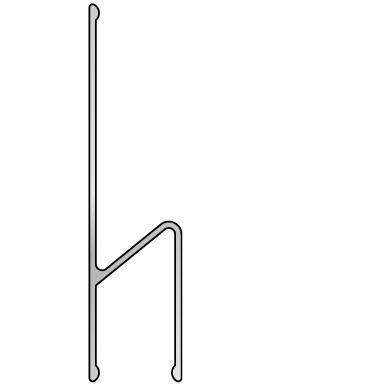 Stačiakampio formos aliuminio lyginimo h-profilis BMI (300 cm) 3