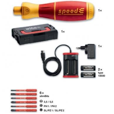 Elektrinis atsuktuvas WIHA speedE (rinkinys su priedais 10 vnt.) 2
