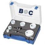Gręžimo karūnėlių Bi-metal rinkinys BOHRCRAFT su adapteriais HSS-E (Co8), 8 vnt.