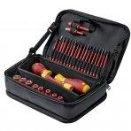 """Įrankių rinkinys WIHA """"slimVario®"""" electric (32 vnt.) su praktišku krepšiu"""