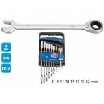 Kombinuotų terkšlinių raktų rinkinys Super Ego 8-22 mm (8 vnt.)