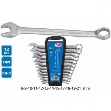 Kombinuotų raktų rinkinys Super Ego 8-22 mm (12 vnt.)