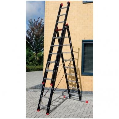 Trijų dalių kopėčios Mounter professional (3 x 12) 2