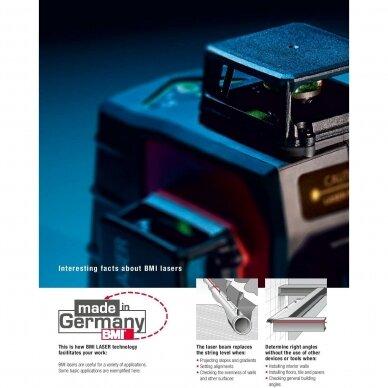 Крестовой лазерный нивелир BMI autoCROSS 4G (набор с приемником) 5