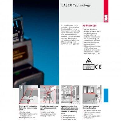 Крестовой лазерный нивелир BMI autoCROSS 4G (набор с приемником) 6