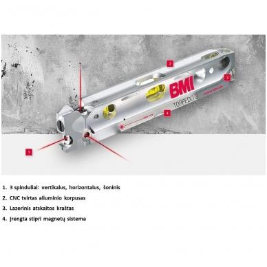 Трехлучевой лазерный уровень BMI Torpedo 3 2