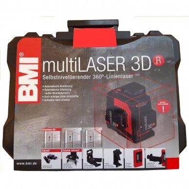Лазерный нивелир BMI multiLASER 3D R (набор с приемником) 7