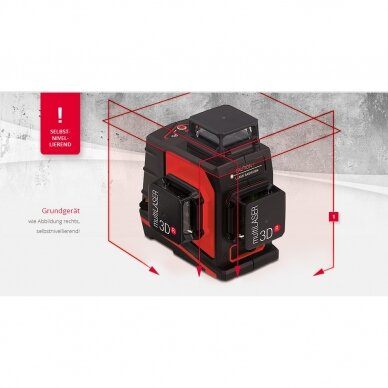 Лазерный нивелир BMI multiLASER 3D R (набор с приемником) 2