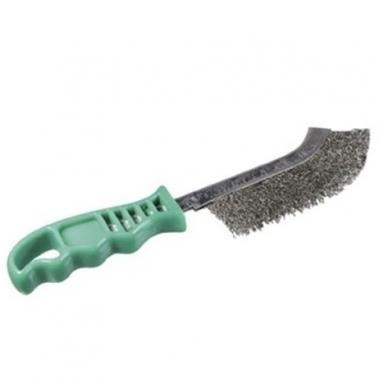Nerūdijančio plieno vielos rankinis šepetys su plastmasine rankena OSBORN