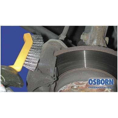 Nerūdijančio plieno vielos rankinis šepetys su plastmasine rankena OSBORN 2