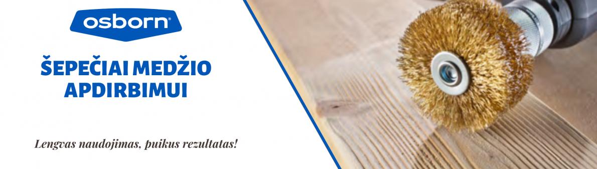 Osborn šepetys medienos strukturizavimui