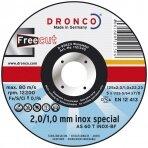 Pjovimo diskas DRONCO AS 60 T/ AS 46 T INOX FreeCut T41 (115 x 2/1 x 22,23)