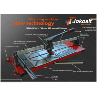 Plytelių pjaustymo staklės JOKOSIT PROFI CUT MAX (900 mm) 2