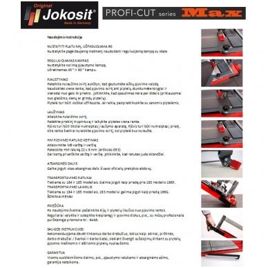 Plytelių pjaustymo staklės JOKOSIT PROFI CUT MAX (900 mm) 5