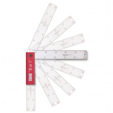 Profesionalus reguliuojamas kampmatis BMI 8 IN 1 (400x150 mm)