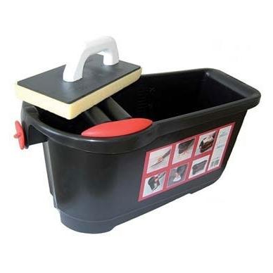 Profi-Clean profesionalus plytelių plovimo rinkinys 24 l (su ratukais ir grotelėmis) 2