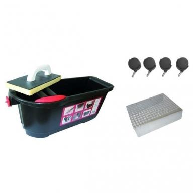 Profi-Clean профессиональный комплект для чистки плитки 24 л (с колесами и решеткой) 2