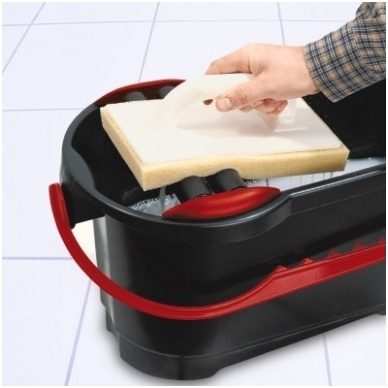 Profi-Clean профессиональный комплект для чистки плитки 24 л (с колесами и решеткой) 3