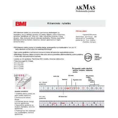 Ruletė BMI Vario EG 1 (3 m) 7
