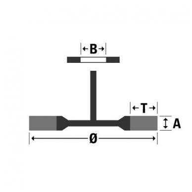 Apskritas šepetys su koteliu OSBORN (Ø 60x12 mm) 2