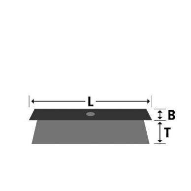 Šepetys mediniu korpusu OSBORN (600x55x80 mm) 2