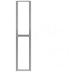 Stačiakampio formos aliuminio lyginimo profilis su laikikliais BMI (200 cm)
