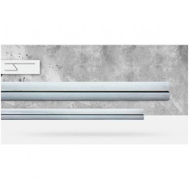 Stačiakampio formos aliuminio lyginimo h-profilis BMI (300 cm) 2