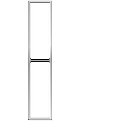Stačiakampio formos aliuminio lyginimo profilis BMI (150 cm) 3