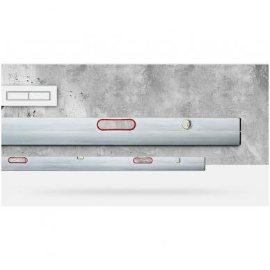 Stačiakampio formos aliuminio lyginimo profilis su laikikliais BMI (150 cm) 2