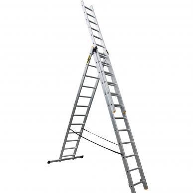 """Trijų dalių daugiafunkcinių kopėčių DRABEST """"PRO"""" 3x12"""