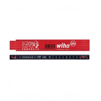 Sulankstomas metras WIHA Longlife Plus Composite (2 m, 10 segmentų)